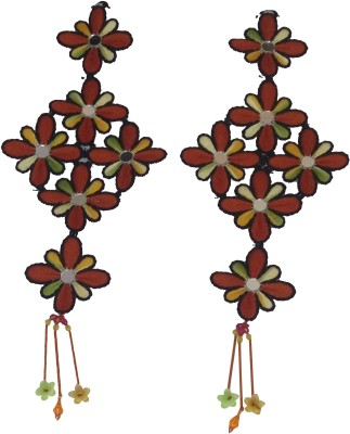 Haryana Craft Multi Color Wall Hanging Set Of Two By Hayana Craft Showpiece  -  50 cm(Plastic, Multicolor)  available at flipkart for Rs.249