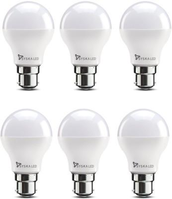 Syska 9 W Standard B22 LED Bulb(White, Pack of 6) at flipkart