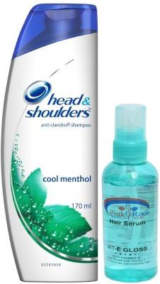 head & shoulders Head & Shoulder Anti-Hairfall Shampoo with Pink Root Hair Serum Pack of 2(Set of 2)