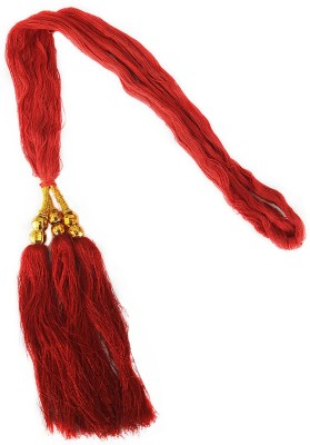 Majik Punjabi Giddha Used Hair Accessories For Women / Hair Parandi For Women Braid Extension(Red, Gold) Flipkart