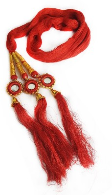 Majik Party Wear New Design Hair Accessories For Women / Hair Parandi Braid Extension(Red, Gold)