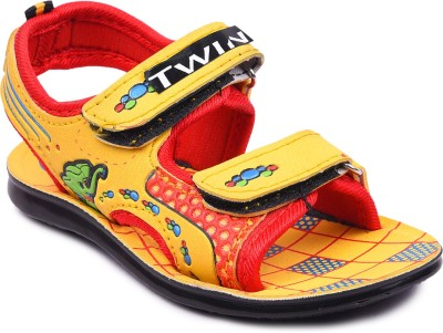 TWIN Boys & Girls Velcro Strappy Sandals(Multicolor)  available at flipkart for Rs.179