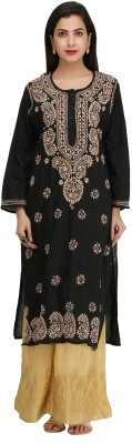 Ada Festive & Party Chikan Embroidery, Embroidered Women