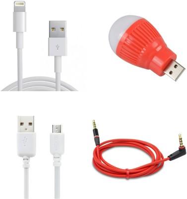 MINIFOX AUX CABLE, USB BLUB Combo Set Multicolor