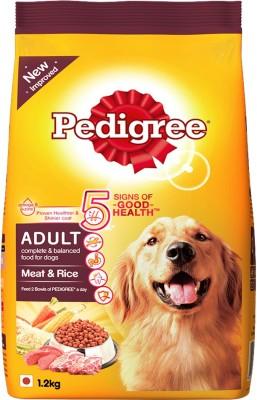 Pedigree Adult Meat Rice 1.2 kg Dry Dog Food