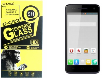 Elate Tempered Glass Guard for Micromax CANVAS2 COLOURS A120s(Pack of 2)