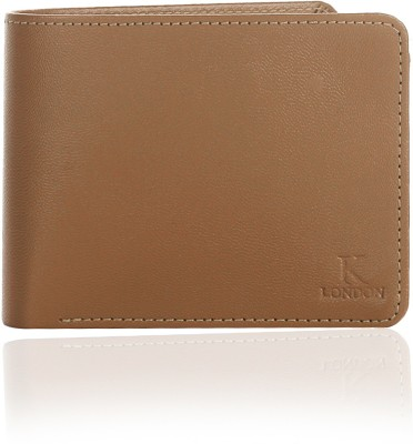 K London Men Tan Artificial Leather Wallet 3 Card Slots