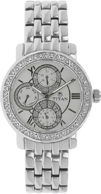 Titan White Dial Analog Watch  - For Women