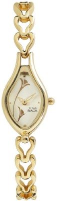 Titan Raga Champagne Dial Analog Watch  - For Women