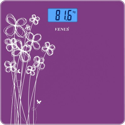 Venus Eps-6399 Purple Glass Digital Weighing Scale(Purple)