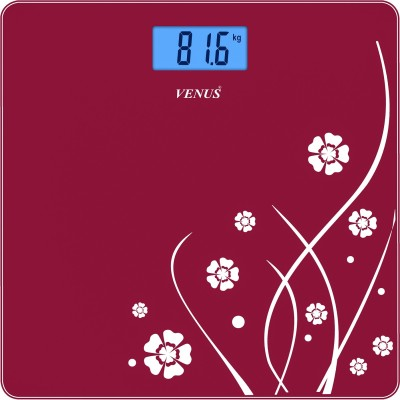 Venus Eps-6399 Red Glass Digital Weighing Scale(Red)