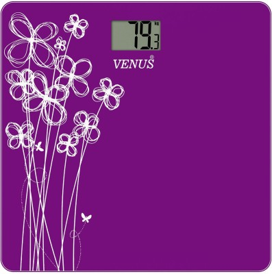 Venus Digital Glass Weighing Scale(Purple)