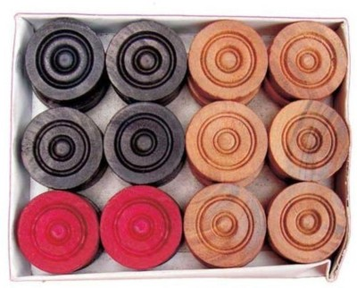 SST Carrom Wood Coins Carrom Pawns(Pack of 25)