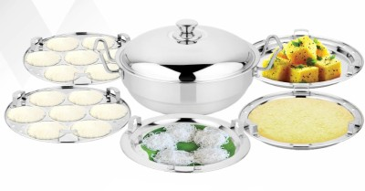 AIRAN chakmak multi kadhai Induction Bottom Cookware Set(Stainless Steel, 7 - Piece) at flipkart