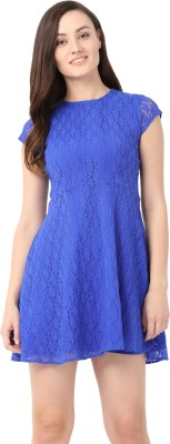 Alibi By Inmark Women Fit and Flare Blue Dress