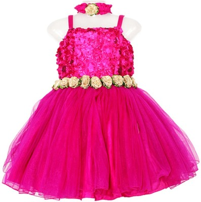 Firozee Dresses Flared Gown(Pink)