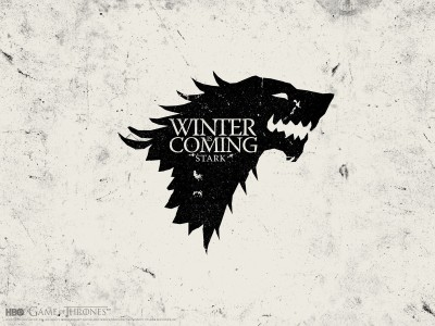 Aabhaas Wall Poster-Game-of-Thrones-A-Song-of-Ice-and-Fire-House-Stark-Winter-Is-Coming-sigils Paper Print(12 inch X 18 inch, Rolled)  available at flipkart for Rs.207