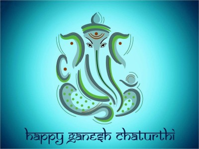 Aabhaas Wall Poster -ganpati-happy-ganesh-chaturthi- Paper Print(12 inch X 18 inch, Rolled)