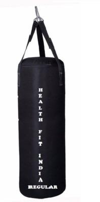 HEALTH FIT INDIA Regular 4.5 Feet Long, SRF - STANDARD Material, Black Color, Unfilled with Hanging Straps Hanging Bag(4.5, 54 kg)