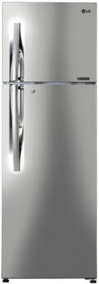 LG 284 L Frost Free Double Door 3 Star Refrigerator(Shiny Steel, GL-C302RPZU)  available at flipkart for Rs.27799
