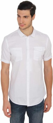 Calvin Klein Men Solid Casual White Shirt  available at flipkart for Rs.1399