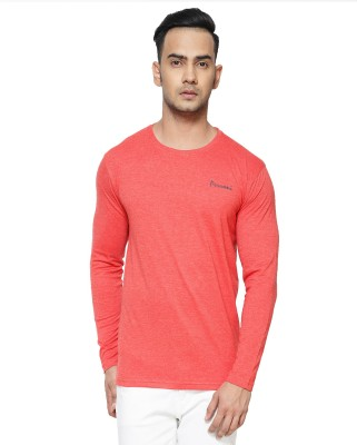 Perroni Solid Men Round Neck Red T-Shirt