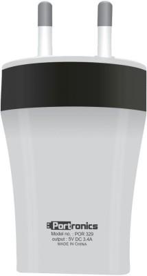 Portronics POR329 3.4A USB Adapter(White)