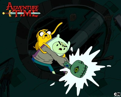 Aabhaas TV Show Adventure Time Finn The Human Jake The Dog HD Wall Poster Paper Print(12 inch X 18 inch, Rolled)  available at flipkart for Rs.207