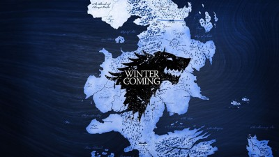 Aabhaas Wall Poster-Game-of-Thrones-map-Westeros-Winterfell-A-Song-of-Ice-and-Fire-House-Stark-Winter-Is-Coming-wolf Paper Print(12 inch X 18 inch, Rolled)  available at flipkart for Rs.207