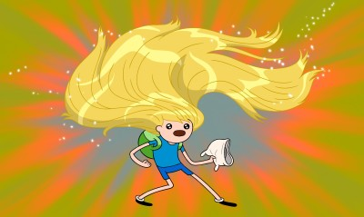 Aabhaas TV Show Adventure Time Finn And Jake Finn The Human HD Wall Poster Paper Print(12 inch X 18 inch, Rolled)  available at flipkart for Rs.207