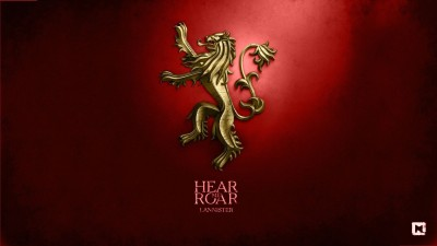 Aabhaas Wall Poster-Game-of-Thrones-A-Song-of-Ice-and-Fire-digital-art-House-Lannister-sigils Paper Print(12 inch X 18 inch, Rolled)  available at flipkart for Rs.207