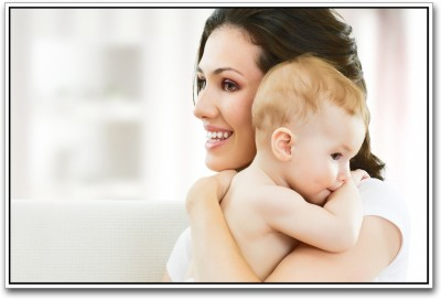 Aabhaas Wall Poster Cute Baby with Mother Paper Print(12 inch X 18 inch, Rolled)  available at flipkart for Rs.207