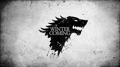 Aabhaas Wall Poster-A-Song-of-Ice-and-Fire-Game-of-Thrones-House-Stark-sigils-Winter-Is-Coming Paper Print(12 inch X 18 inch, Rolled)  available at flipkart for Rs.207