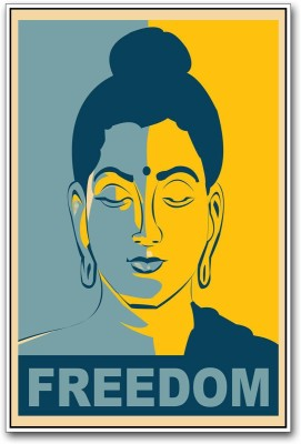 Akhuratha Wall Poster budha-freedom-ps- Paper Print(12 inch X 18 inch, Rolled)