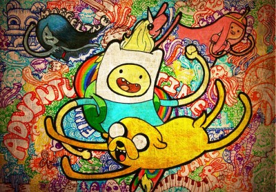 Aabhaas TV Show Adventure Time Finn And Jake Jake The Dog Finn The Human HD Wall Poster Paper Print(12 inch X 18 inch, Rolled)  available at flipkart for Rs.207