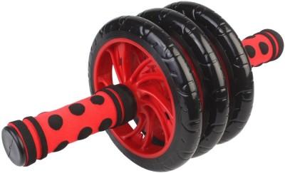 Dolphy Red Triple Wheel Roller Ab Exerciser(Red, Black)