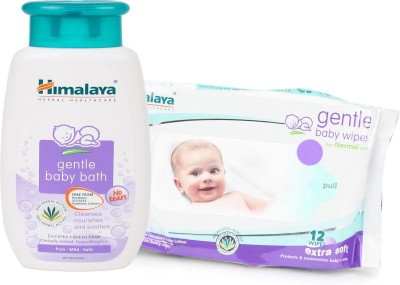 Himalaya Herbals gentle baby Shampoo (100ml)+Himalaya Herbals Gentle baby Wipes (12 Sheets)(White)  available at flipkart for Rs.175