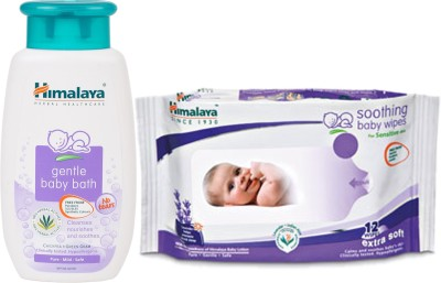 Himalaya Herbals gentle baby Shampoo (100ml)+Himalaya Herbals Soothing Baby Wipes (12 Sheets)(White)  available at flipkart for Rs.180