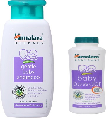 Himalaya Herbals gentle baby Shampoo (100ml)+Himalaya Herbals Baby powder (50g)(White)  available at flipkart for Rs.174