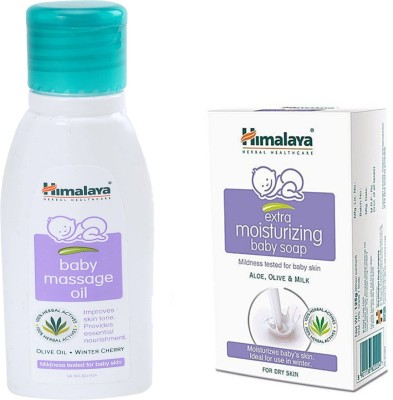 Himalaya Herbals Baby Massage Oil (50ml)+Himalaya Gentle Baby Soap (75g)(White)  available at flipkart for Rs.150