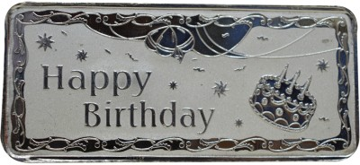Kataria Jewellers Happy Birthday S 999 50 g Silver Bar Kataria Jewellers Coins   Bars
