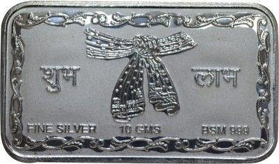 Kataria Jewellers Shubh Labh S 999 10 g Silver Coin Kataria Jewellers Coins   Bars