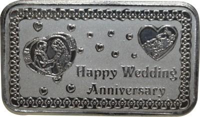 Kataria Jewellers Happy Wedding Anniversary S 999 10 g Silver Coin Kataria Jewellers Coins   Bars