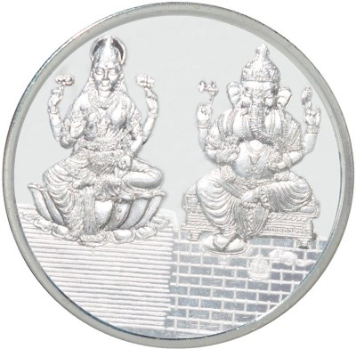 Kataria Jewellers Lakshmi Ganesha S 999 100 g Silver Coin Kataria Jewellers Coins   Bars