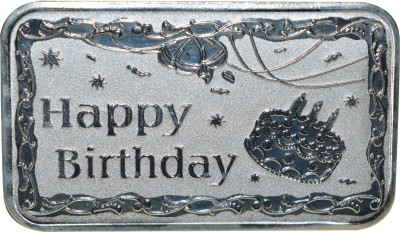 Kataria Jewellers Happy Birthday S 999 10 g Silver Coin Kataria Jewellers Coins   Bars