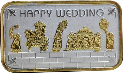 Kataria Jewellers Happy Wedding S 999 10 g Silver Bar