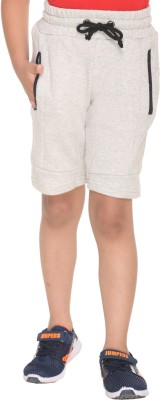 HARBOR N BAY Short For Boys Casual Self Design Cotton Polyester Blend(Grey, Pack of 1)
