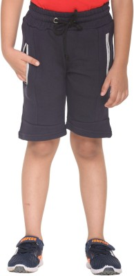 HARBOR N BAY Short For Boys Casual Self Design Cotton Polyester Blend(Dark Blue, Pack of 1)