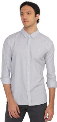 Calvin Klein Men Striped Casual White Shirt  available at flipkart for Rs.2099