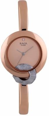 Titan 95051KM03F Raga Espana Analog Watch For Women